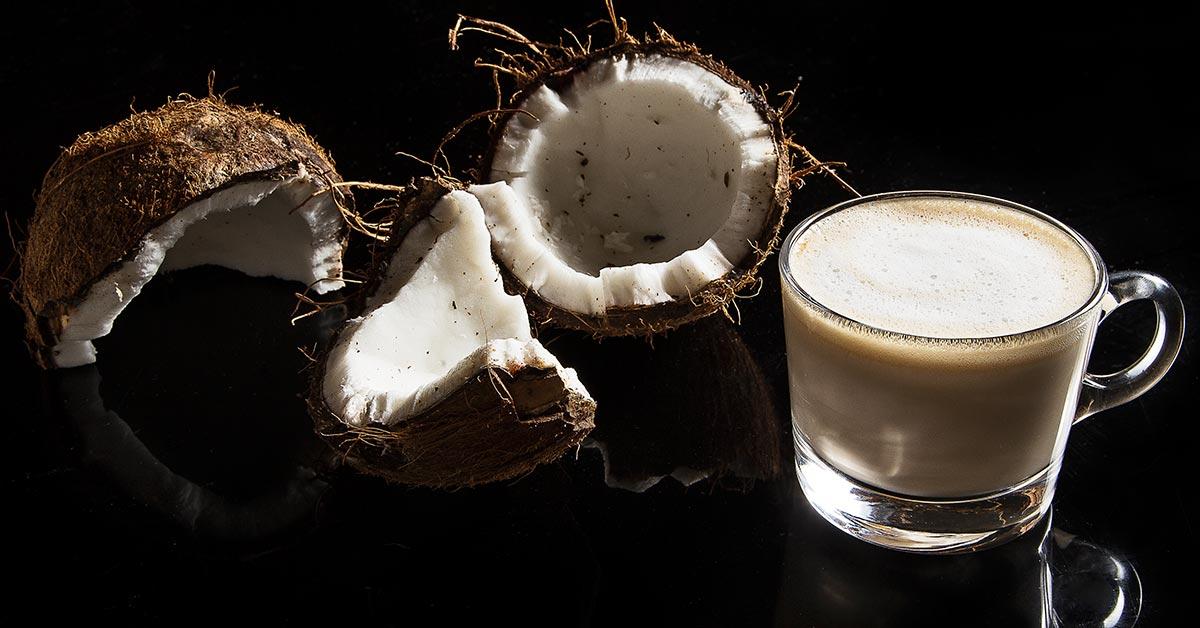 Kokosinis kavos gėrimas